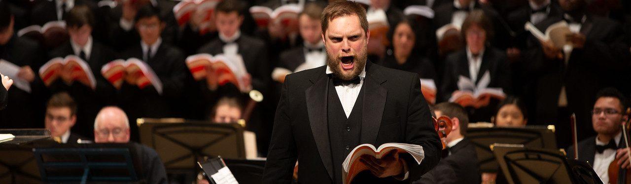 Greg Flower sings an aria from Messiah